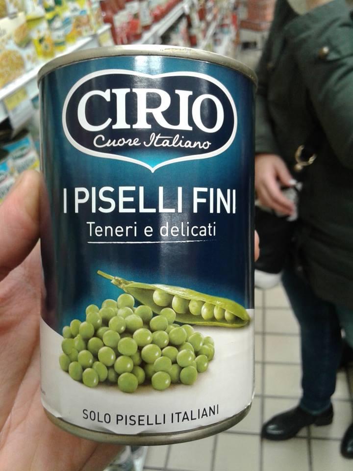 Piselli in scatola con aroma di lattuga! Cirio1