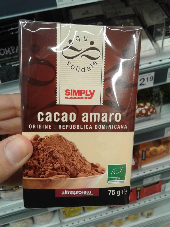 Spesa di qualità: buon prodotto nei supermercati Simply! Cacao-amaro-simply