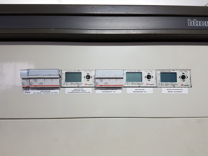 quadri elettrici macchinari