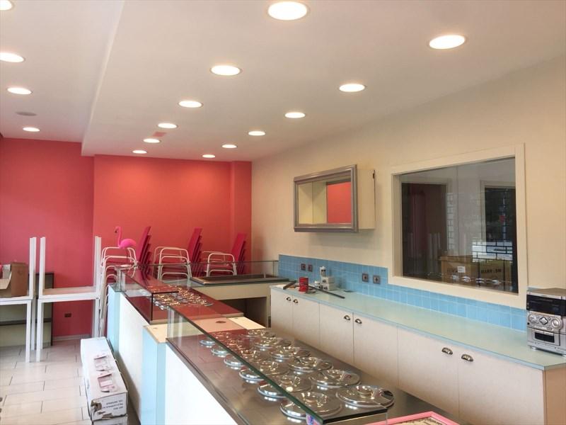 illuminazione soffitto gelateria forlimpopoli flamingo