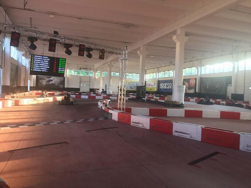 illuminazione per pista go kart